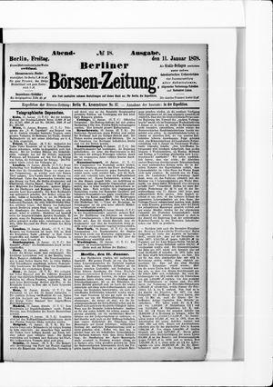 Berliner Börsen-Zeitung on Jan 11, 1878