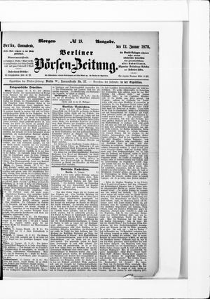 Berliner Börsen-Zeitung vom 12.01.1878