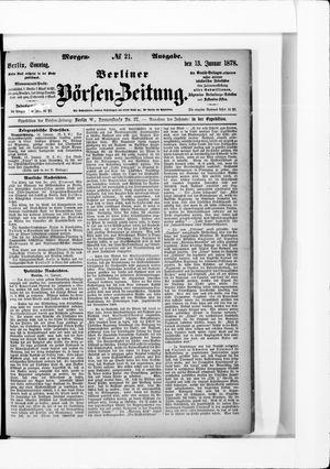 Berliner Börsen-Zeitung vom 13.01.1878