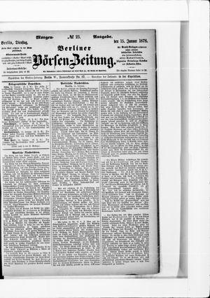 Berliner Börsen-Zeitung vom 15.01.1878
