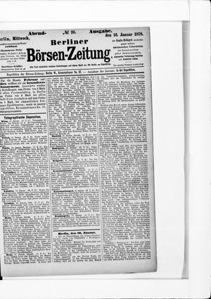 Berliner Börsen-Zeitung vom 16.01.1878