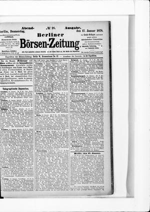 Berliner Börsen-Zeitung vom 17.01.1878