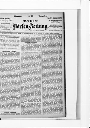 Berliner Börsen-Zeitung vom 18.01.1878