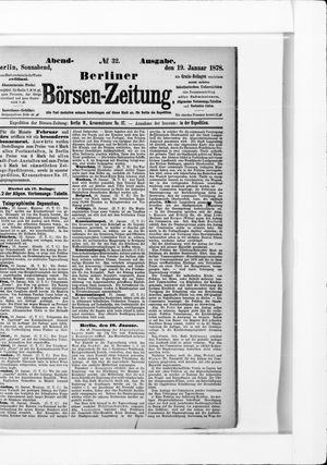 Berliner Börsen-Zeitung vom 19.01.1878