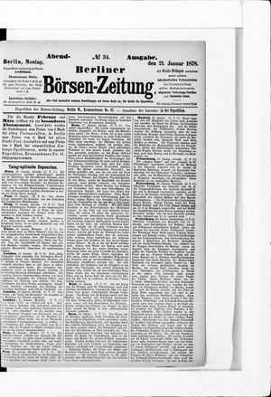 Berliner Börsen-Zeitung vom 21.01.1878