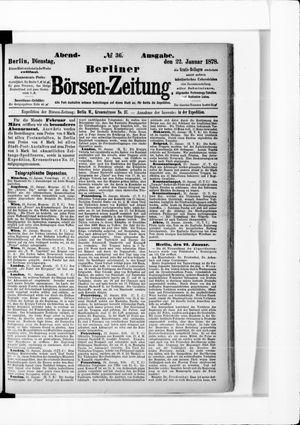 Berliner Börsen-Zeitung vom 22.01.1878