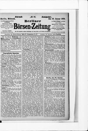 Berliner Börsen-Zeitung vom 23.01.1878