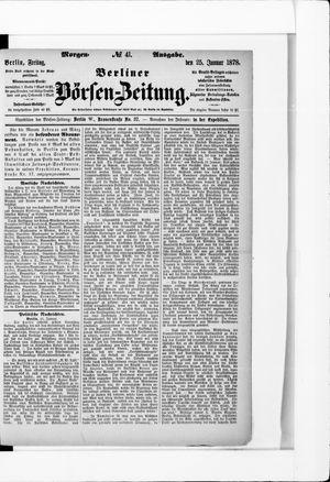 Berliner Börsen-Zeitung vom 25.01.1878
