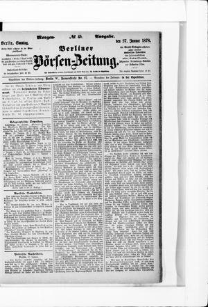 Berliner Börsen-Zeitung vom 27.01.1878