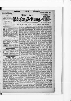 Berliner Börsen-Zeitung vom 29.01.1878