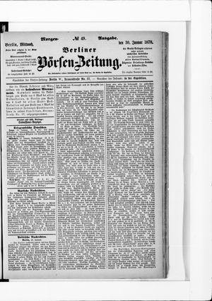 Berliner Börsen-Zeitung vom 30.01.1878