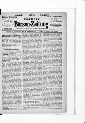 Berliner Börsen-Zeitung vom 31.01.1878