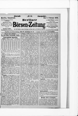 Berliner Börsen-Zeitung vom 02.02.1878