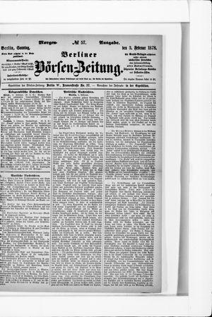 Berliner Börsen-Zeitung vom 03.02.1878