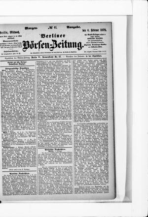Berliner Börsen-Zeitung vom 06.02.1878