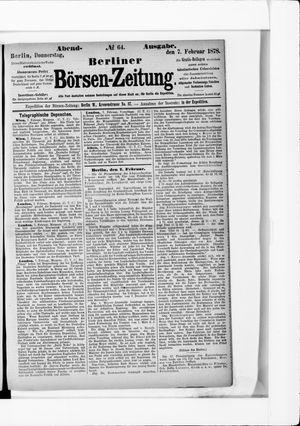 Berliner Börsen-Zeitung vom 07.02.1878