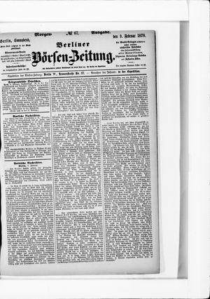 Berliner Börsen-Zeitung vom 09.02.1878
