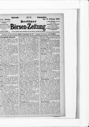 Berliner Börsen-Zeitung vom 11.02.1878