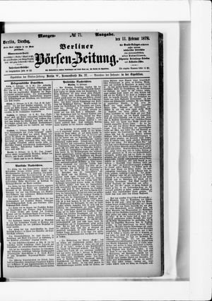 Berliner Börsen-Zeitung vom 12.02.1878