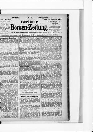 Berliner Börsen-Zeitung vom 13.02.1878