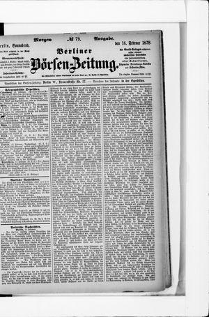Berliner Börsen-Zeitung vom 16.02.1878