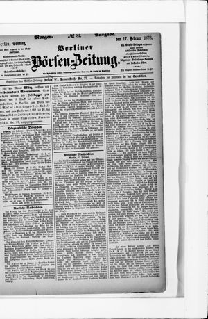 Berliner Börsen-Zeitung vom 17.02.1878