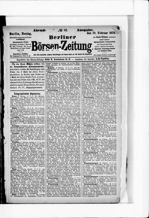 Berliner Börsen-Zeitung vom 18.02.1878