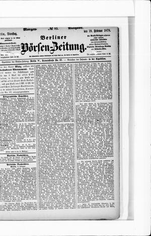 Berliner Börsen-Zeitung vom 19.02.1878