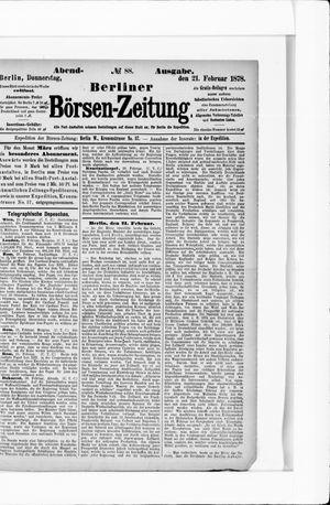 Berliner Börsen-Zeitung vom 21.02.1878