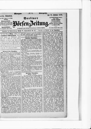 Berliner Börsen-Zeitung vom 23.02.1878