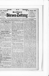 Berliner Börsenzeitung (23.02.1878)