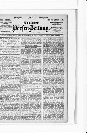 Berliner Börsen-Zeitung vom 24.02.1878