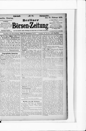 Berliner Börsen-Zeitung vom 26.02.1878