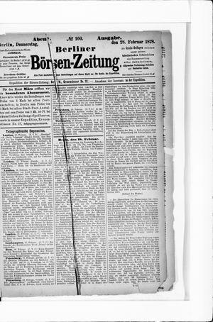 Berliner Börsen-Zeitung vom 28.02.1878
