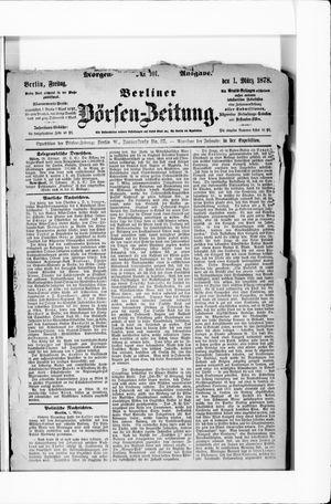 Berliner Börsen-Zeitung vom 01.03.1878