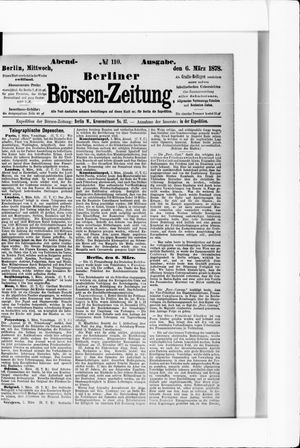 Berliner Börsen-Zeitung vom 06.03.1878