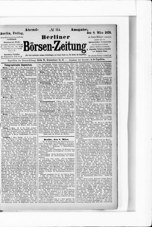 Berliner Börsen-Zeitung vom 08.03.1878