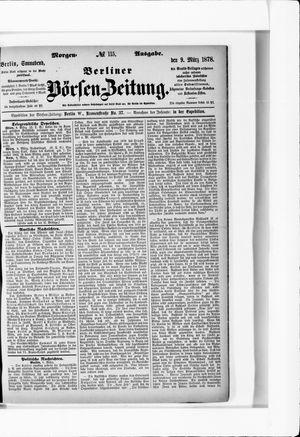 Berliner Börsen-Zeitung vom 09.03.1878