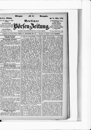 Berliner Börsen-Zeitung vom 13.03.1878