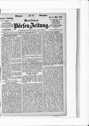 Berliner Börsen-Zeitung vom 14.03.1878