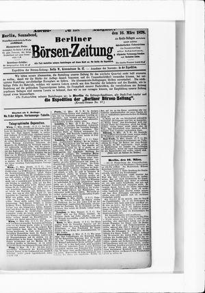 Berliner Börsen-Zeitung vom 16.03.1878