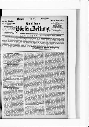 Berliner Börsen-Zeitung vom 19.03.1878