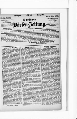 Berliner Börsen-Zeitung vom 24.03.1878