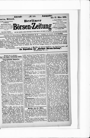 Berliner Börsen-Zeitung vom 27.03.1878