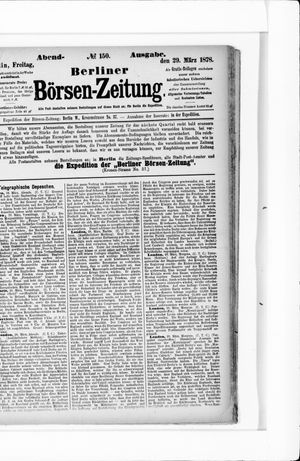 Berliner Börsen-Zeitung vom 29.03.1878