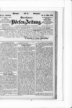 Berliner Börsen-Zeitung vom 30.03.1878