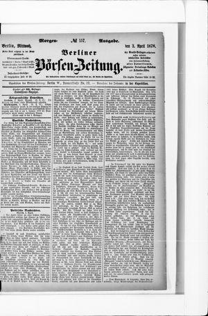 Berliner Börsen-Zeitung vom 03.04.1878