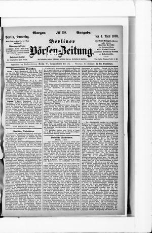 Berliner Börsen-Zeitung vom 04.04.1878