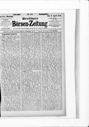Berliner Börsen-Zeitung vom 09.04.1878