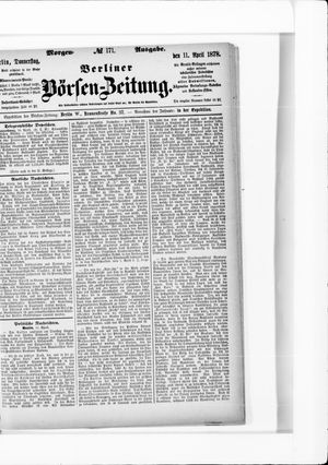 Berliner Börsen-Zeitung on Apr 11, 1878